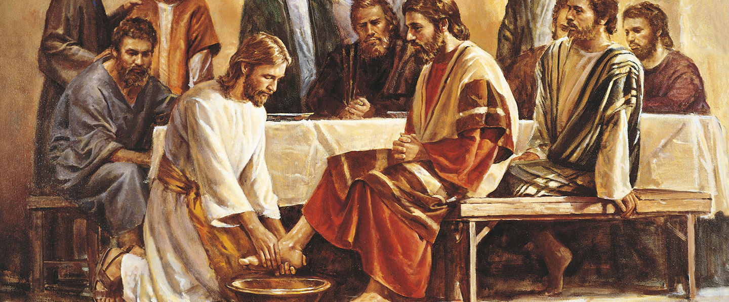 Jesus Washing the Apostles' Feet by Del Parson (62550) Copyright belong to the original artist